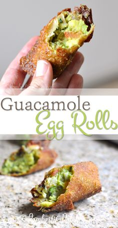 Guacamole Egg Rolls Recipe Guacamole Egg Rolls with white queso and salsa to dip. This sounds so perfect for a football gameday snack! Egg Roll Recipes, Avocado Recipes, Quick Recipes, Cooking Recipes, Guacamole Recipe, Fusion Food, Best Appetizers, Appetizer Recipes, Party Appetizers