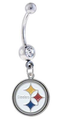 Sports Body Jewelry - Pittsburgh Steelers NFL Belly Ring, $12.99 (http://www.sportsteambodyjewelry.com/pittsburgh-steelers-nfl-belly-ring/)