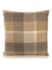 George Home Large Natural Check Cushion
