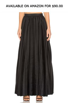 cc11f47bf3972 Blaque Label Womens Pleated Maxi Skirt Black Extra Small ◇ AVAILABLE ON  AMAZON FOR: $90.00