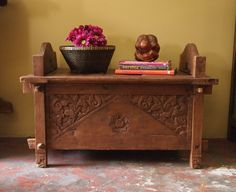 This Old Indonesian Wedding Chest from GadoGado.com makes a unique coffee table in a small space. Indonesian / Bali furniture