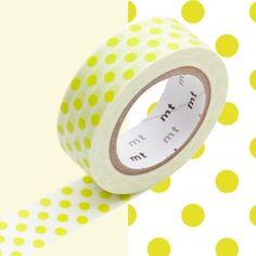 Masking-Tape-MT-15-mm-Pois-vert-anis-Masking-Tape-MT