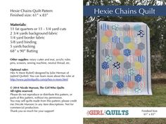 https://flic.kr/p/jYi3vk | Hexie Chains Quilt Pattern | Blogged