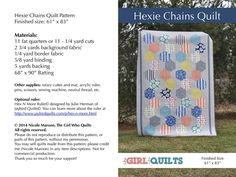 https://flic.kr/p/jYi3vk   Hexie Chains Quilt Pattern   Blogged