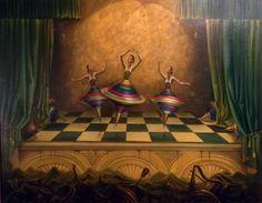 "Original Painting ""Three Graces 1998"" by Vladimir Kush"
