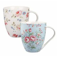 Set of Two Cath Kidston Roses China Mugs - Mugs/cup from the gifted penguin UK