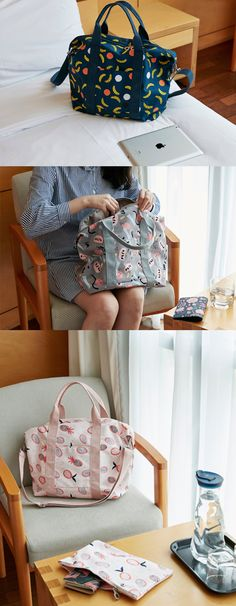 This is a perfect bag for a short trip or as an extra travel bag! The spacious and sturdy compartment and an additional zipper pouch help make it easy to pack for your next travel!