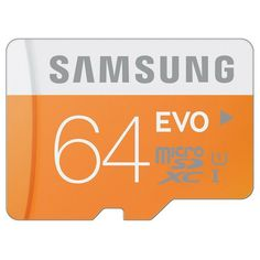 Original Samsung Evo 64GB SD UHS-1 Extra Memory Card 48MBs Class 10 X-ray Proof Water Resistant Anti-shock for Camera
