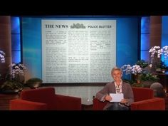 @1:27.   Ellen found a lot of fantastic police reports. Correction: fantastically weird police reports!