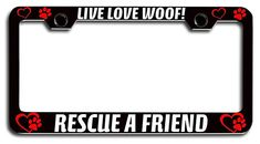 ADOPT DONT BREED SHELTER PETS DIE License Plate Frame Tag Holder