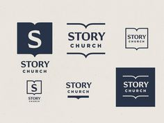 STORY church branding R3 by Brenton C. Little on Dribbble Church Graphic Design, Saint Charles, S Stories, Show And Tell, Logo Design, Branding, Logos, Brand Management, Brand Identity