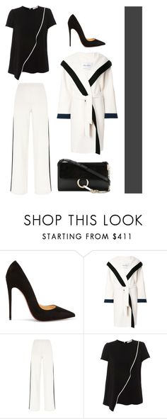 """""""Milan fashion week"""" by benedetta-ii ❤ liked on Polyvore featuring Christian Louboutin, MaxMara and Chloé"""