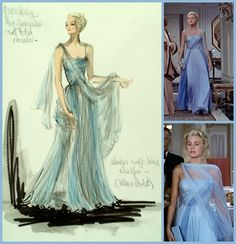Grace Kelly in an Edith Head designed gown in To Catch a Thief (1955)