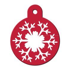 Quick-Tag Large Snowflake Circle Personalized Engraved Pet ID Tag at PETCO