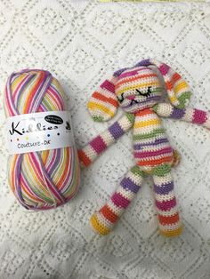 Cygnet Yarns Kiddies Couture Lolly Striped Amigurumi Rabbit Free Crochet Pattern