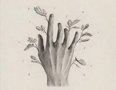 Una pequeña serie de dibujos  cuyo objeto de estudio es la mano . Estos dibujos…