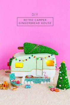 DIY retro camper gingerbread house and recipe - sugar and cloth