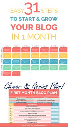 Easy 31 Steps to Start Grow Blog FREE Printable - Start a Mom Blog