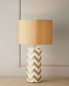 Gold Chevron Lamp at Horchow.