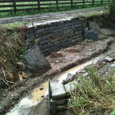 Drystone retaining walk.