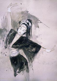 Luis Royo, Conversation between Silk and Air Dead Moon People Illustration, Fantasy Illustration, Samurai, Geisha Art, Luis Royo, Music Artwork, Spanish Artists, Types Of Art, Asian Art