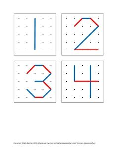 If you don't have geoboards in your classroom, your kiddos are missing out! Use this set of cards for making numbers 0 - 10 (plus +, -, x, / and = so they can make math sentences, too!).