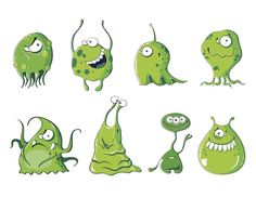 Little green monsters: How to beat writer envy – Writing Tool Box – cartoon Funny Monsters, Cartoon Monsters, Monster Illustration, Character Illustration, Cute Wallpaper Backgrounds, Cute Wallpapers, Monster Party, Bacteria Cartoon, Monster Clipart