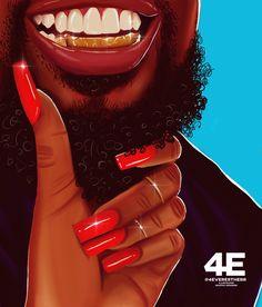 Shinin' Together Art Print by foreverestherr Black Couple Art, Black Love Art, Black Girl Art, My Black Is Beautiful, Art Girl, Girl Artist, Black Art Painting, Black Artwork, Classic Artwork