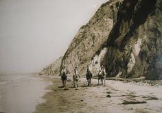 1920's Horseback riding on Torrance/Rat beach in Torrance California. Unknown Photographer.
