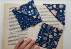 How to make quick and easy Fabric Bookmarks with scraps of fabric