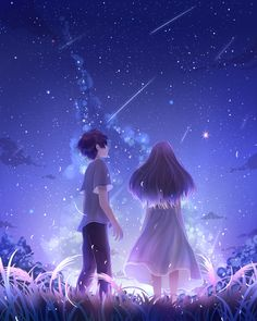 Anime Girl Cute, Cute Anime Couples, Anime Girls, Sky Anime, Anime Art, Anime Watch, Happy Marriage, Fantasy Landscape, Anime Scenery