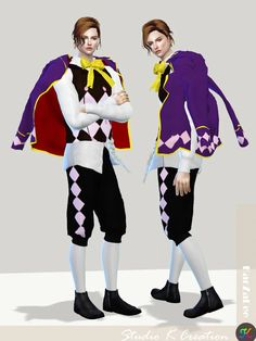 Black Butler Joker outfit for The Sims 4 Joker Outfit, Mod Hair, Sailor Costumes, Sims 4 Cc Kids Clothing, Sims 4 Cc Makeup, Formal Pants, The Sims 4 Download, The Sims4, Sims Cc