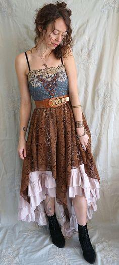 Traveler Dress... boho bohemian whimsical gypsy by jadadreaming