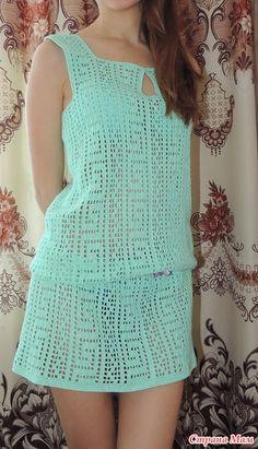 Captivating Crochet a Bodycon Dress Top Ideas. Dazzling Crochet a Bodycon Dress Top Ideas. Crochet Skirt Outfit, Crochet Skirts, Crochet Tunic, Crochet Beanie, Filet Crochet, Crochet Clothes, Knit Dress, Knit Crochet, Crochet Pincushion