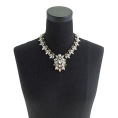 Crystal brooch necklace : necklaces | J.Crew