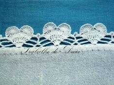 Heart edging: Álbuns da web do Picasa Crochet Edging Patterns, Crochet Motif, Crochet Doilies, Crochet Stitches, Crochet Edgings, Quick Crochet, Filet Crochet, Beautiful Crochet, Knit Or Crochet