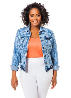 554e88bb7ec41 Cloud Wash Denim Jacket Ashley Stewart