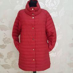 #piumino lungo new colour #rossooooo #valeria #abbigliamento