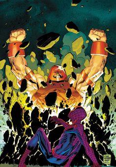 Juggernaut and Spider-Man by Lee Weeks