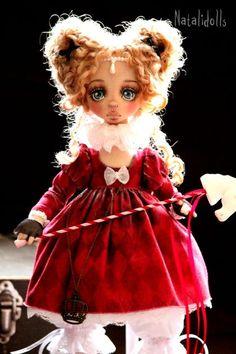 Ивет. Авторская текстильная кукла  В ручках проволочный каркас,ножки сгибаются в коленях.  Цена указана без учета… Knitted Dolls, Soft Dolls, Fabric Dolls, Doll Toys, Pixie, Doll Clothes, Harajuku, Eye Candy, Christmas Ornaments