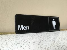 Men's bathroom sign vintage eighties 80s 1980s by SpaceModyssey