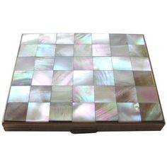 Mother Of Pearl Checkerboard Compact by Kaycraft ($38) ❤ liked on Polyvore featuring beauty products
