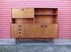 Teak highboard sideboard Danish style retro mid century vintage 60s 70s | eBay