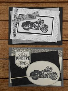 Marita´s Bastelzimmer: one wild ride - motorrad - Masculine Birthday Cards, Birthday Cards For Men, Masculine Cards, Stampin Up Karten, Stampin Up Cards, Men's Cards, Motorcycle Birthday, Car Card, Horse Cards