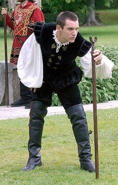 King Henry VIII of England portrayed by Irish actor Jonathan Rhys Meyers --- The Tudors -- an Irish-Canadian historical fiction television series set primarily in sixteenth-century England, created by Michael Hirst.