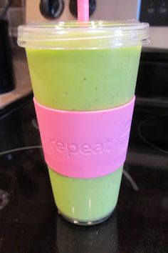 Super Shake made with .... Spinach!  But really, you have to try it before you knock it.  I couldn't really taste the spinach per se.  So yummy!