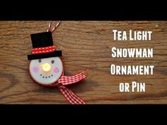 Tea Light Snowman Ornament - Red Ted Art - Make crafting with kids easy & fun Cute Christmas Tree, Christmas On A Budget, Holiday Crafts For Kids, Christmas Ornament Crafts, Xmas Crafts, Kids Christmas, Christmas Decorations, Penguin Ornaments, Tea Light Snowman
