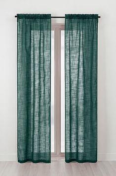 HILDA-sivuverhot, 2/pakk. Green Curtains, Villa, Packing, Live, Home Decor, Channel, Fantasy, Green Study Curtains, Bag Packaging