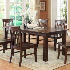 ECI Gettysburg Distressed Dark Dining Table - 1475-05-T
