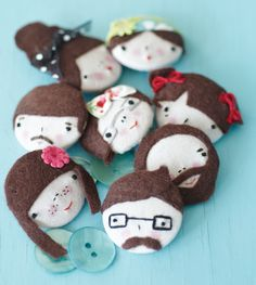 Button Embroidery Faces | Stitch Craft Create